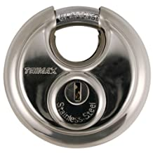 Trimax TRP170 Stainless Steel 70mm Round Pad Lock - 10mm Shackle