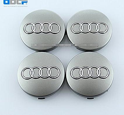 Amazon.com: Dr Dry Set of 4 pcs 60mm Wheel Center Caps Hubcaps for Audi Silver: Automotive