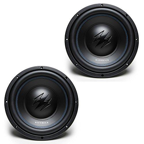 (2) Hifonics TW10D2 Titan 800W 10-Inch Dual-2-Ohm Car Audio Subwoofers)