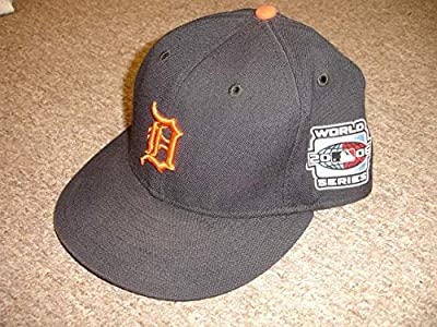 2006 Rafael Belliard Detroit Tigers Game Used World Series Coaches Hat w/Patch - Game Used MLB Hats