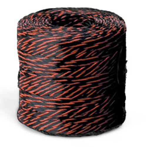 CWC Tree Rope - 615 lbs Tensile, Blk w/org tracer (Pack of 8 rolls) by Continental Western Corporation