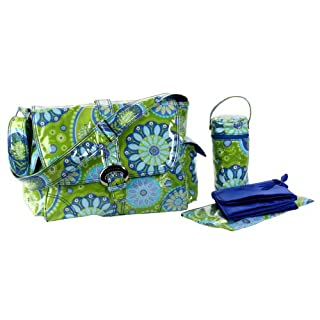Kalencom Laminated Buckle Bag, Gypsy Paisley Green