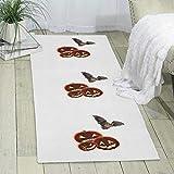 GDBADY Pumpkin Bats Domestic Sitting Room Bedroom Domestic Carpet