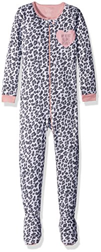 The Children's Place Baby Toddler Girls' Long Sleeve One-Piece Pajamas 2, Leopard 85253, 5T (Sleeve Print Sleeper Long)