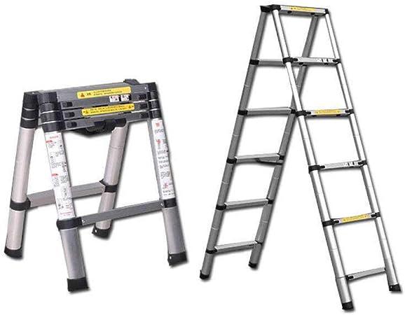 TAYIBO Escalera telescópica Aluminio, Extensión telescópica Escalera Tipo Loft Escalera,Escalera Multifuncional, Escalera doméstica, aleación de Aluminio Plegable telescópica, Exterior: Amazon.es: Hogar