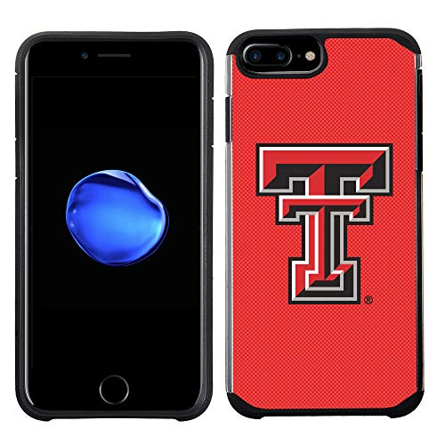 Prime Brands Group Textured Team Color Cell Phone Case for Apple iPhone 8 Plus/7 Plus/6S Plus/6 Plus - NCAA Licensed Texas Tech University Red Raiders
