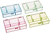 divided plastic container - Darice 3-1/2-Inch by 4-1/2-Inch by 1-Inch Neon Plastic Organizer, Set of 4