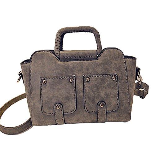 Bluebird Replica (Top Shop Womens Smile Shoulder Handbags Casual Totes Messenger Bag Hobos Satchels,Gray)