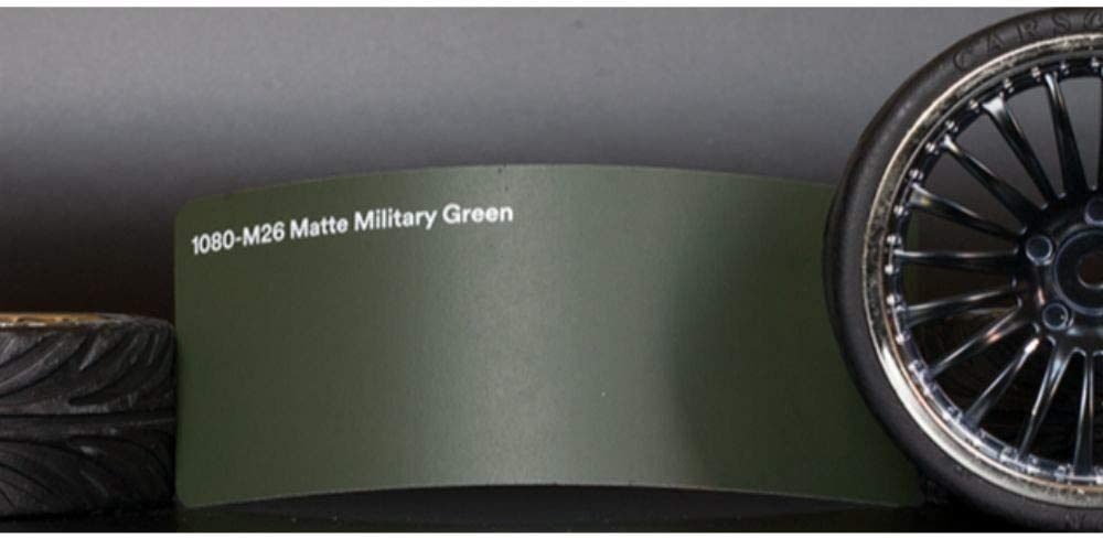 3M 1080 Matte Military Green M26 Sale CAR Film Vinyl WRAP Detroit Mall Sample