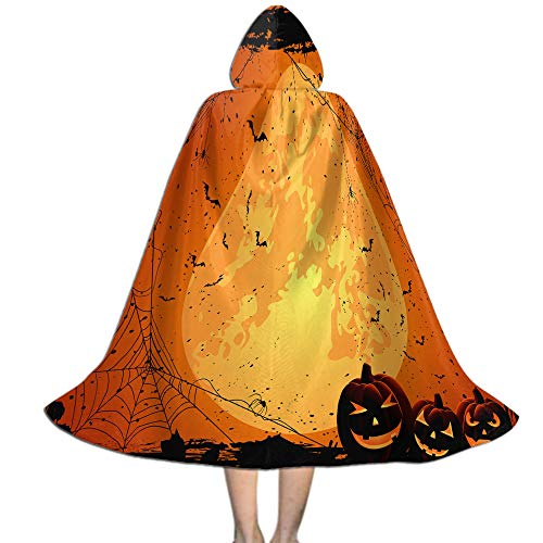 Hood Deluxe Cape Costume for Kids, Cosplay Party Cloak Halloween Decoration -