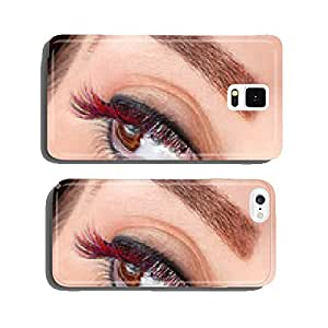 Close-up of colorful false eyelashes cell phone cover case iPhone6