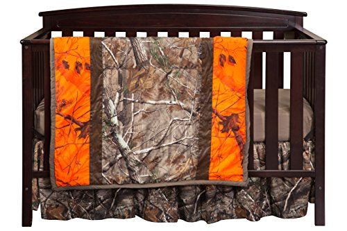 Carstens Camo 3-Piece Crib Sheet Set, Realtree AP Blaze by Carstens