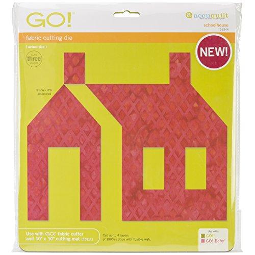 AccuQuilt Go Fabric Cutting Dies, Schoolhouse -