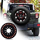 Omotor Spare Tire LED Third Brake Light for 2007-2019 Jeep Wrangler JK Tail Light Rear Light Assemblies Accessories