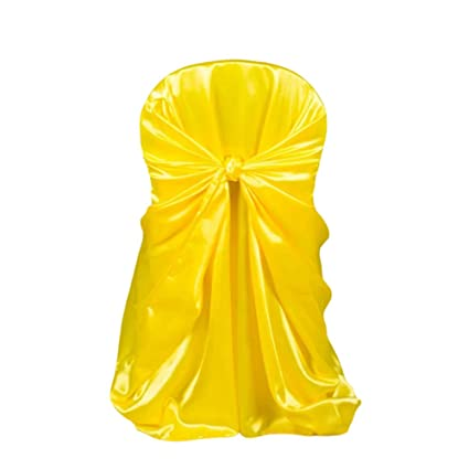 Pictures On Gold Satin Universal Chair Covers