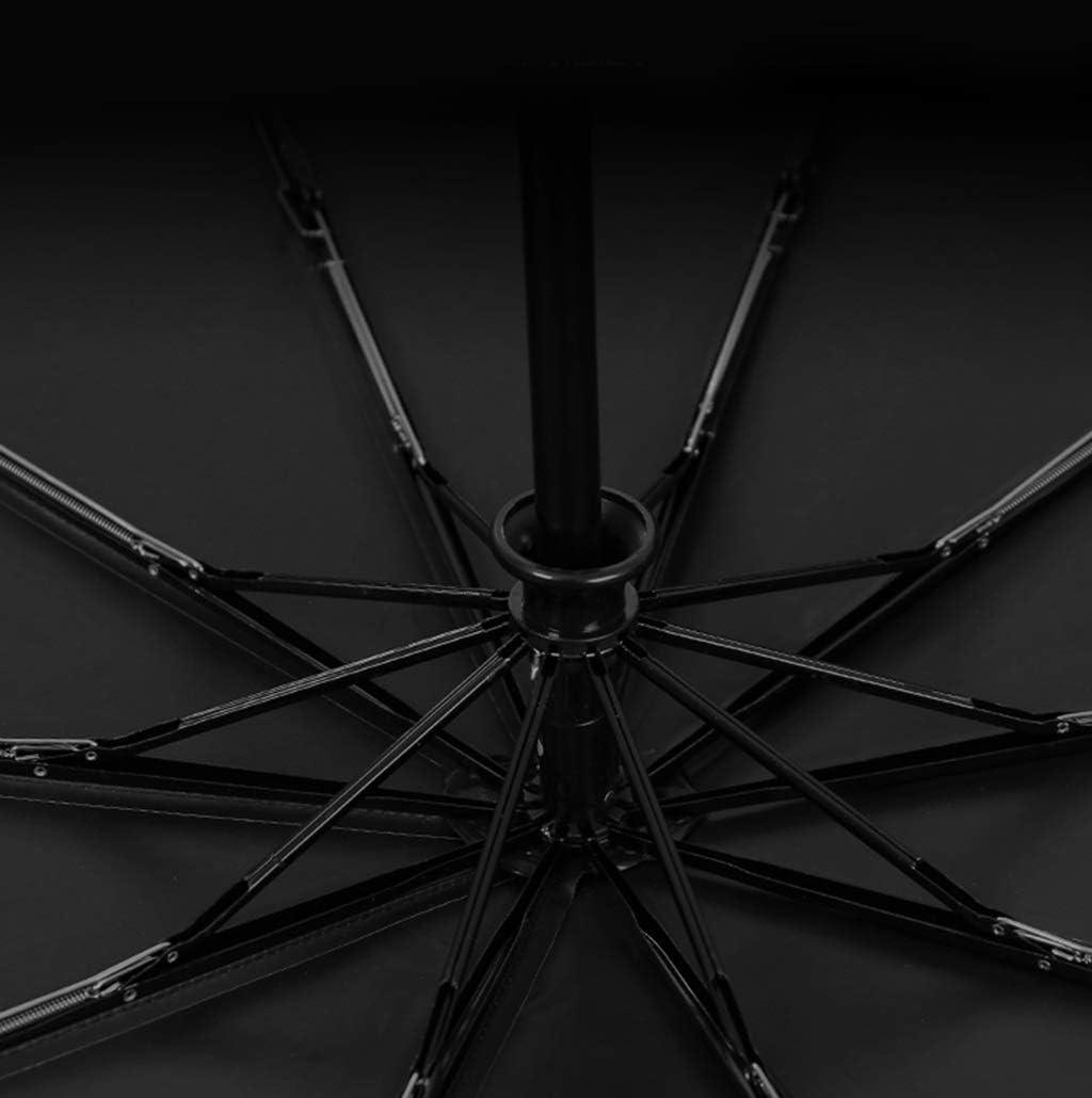 HongTeng Umbrella Folding Automatic 10 Bone Reinforcement Windproof Sunny Dual Use Star Umbrella 41.3x24.8in