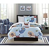 full size pirate sheets - Mizone Boys and Girls sky blue 8-piece Pirate Bed in a Bag Comforter Set. Kids Bedding Set. Choose Twin or Full Size Includes Scented Candle Tarts (Full)