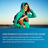 RunNico 21mg Nicotine Patches 7Pcs Step 1 2 3 Stop