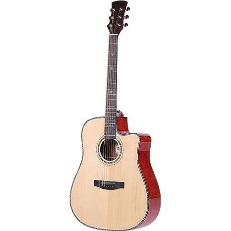 NUYI 41 Pulgadas Oguman Spruce Veneer Guitarra Hecha a Mano ...
