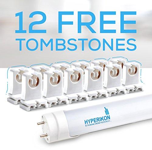Hyperikon T8 T10 T12 LED 4FT Tube Light, 18W (40W-50W