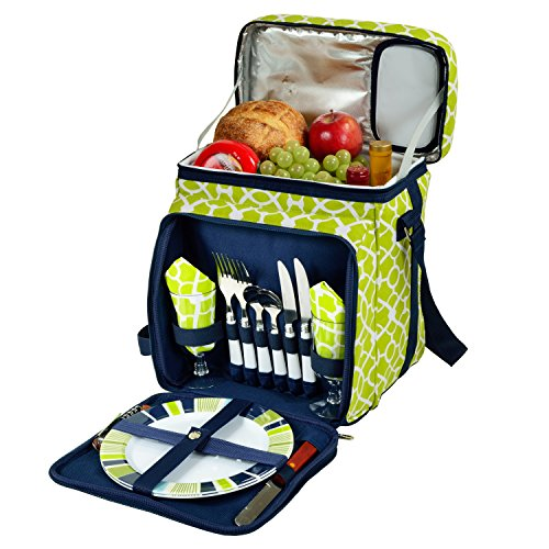 (Picnic at Ascot Original Insulated Picnic Basket/Cooler Equipped with Service for 2- Designed, Assembled & Quality Approved in the USA)