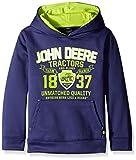 John Deere Boys' Big Boys' Quality Tech Fleece Hoodie, Navy, Small (8)