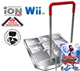 Wii Dance Dance Revolution Limited Edition iON Pro Arcade Metal Dance Pad with Handle Bar + Dance Da