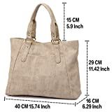 ZMSnow-Womens-PU-Leather-Handbags-Lightweight-Tote-Casual-Work-Bag