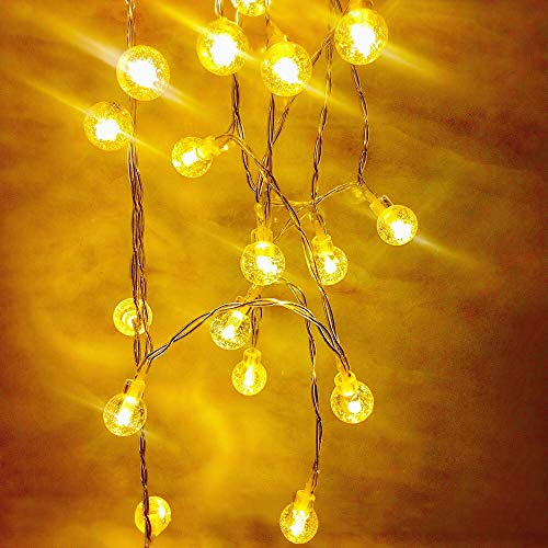 Voneta Globe String Lights Battery Operated 40 LED Crystal Ball Fairy Bulbs Lights Indoor Outdoor Decoration for Home, Garden, Party, Holidays ▏13.2FT Warm White