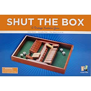 double sided shut the box game toys games. Black Bedroom Furniture Sets. Home Design Ideas