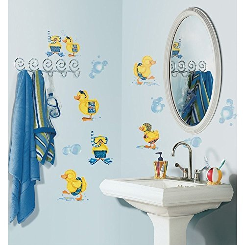 (Ducks and Bubbles Wall Stickers 29 Decals Rubber Duckies Bathroom Decor Bath)