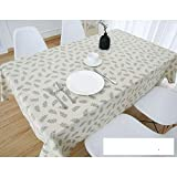 DW&HX Nordic Cotton Linen Table Cover Tablecloths Table Cloth Small Fresh Square Lattice Home Kitchen Easy Care Washable Tablecloth-V 80x120cm(31x47inch)