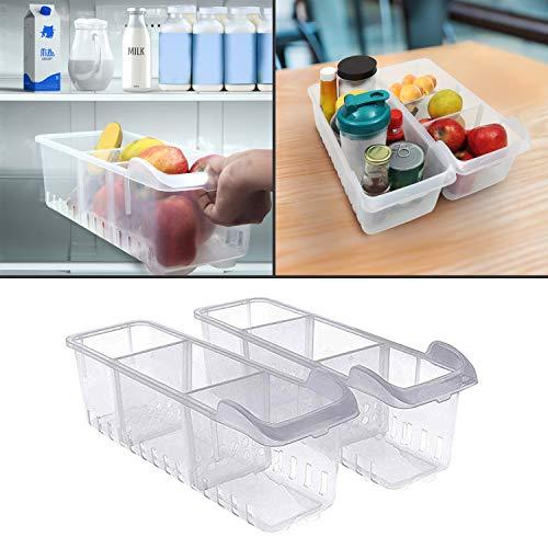 🥇 Organizador de Almacenamiento 2 Pcs- Almacenamiento para refrigerador –