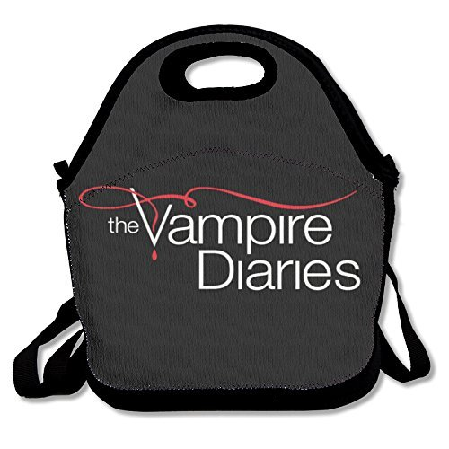 The Vampire Diaries Lunch Bag Lunch Boxes, Waterproof Outdoor Travel Picnic Lunch Box Bag Tote With Zipper And Adjustable Crossbody Strap