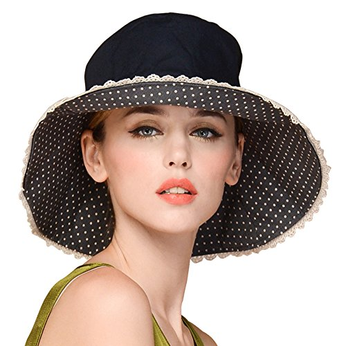 Erigaray UPF50+ Sun Shade Hats For Womens Summer Outdoor Wide Brim Beach Hat Foldable
