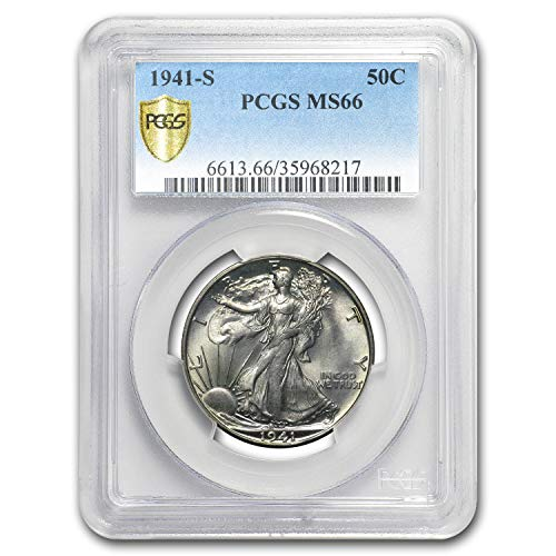 1941 S Walking Liberty Half Dollar MS-66 PCGS Half Dollar MS-66 PCGS