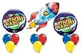 Space Ship Rocket Happy Birthday Blast Alien Balloon Party Set Mylar Latex Kit