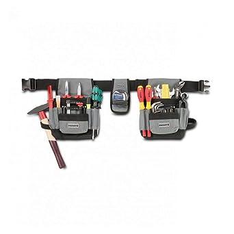 Parat 5990815999- Bolsa portaherramientas para cinturón (tamaño pequeño), color gris y negro