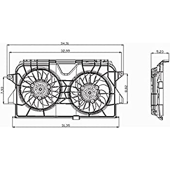 Radiator And Condenser Fan For Dodge Fits Dart CH3115176