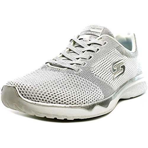 Skechers Studio Burst - Virtual Reality Damen US 8 Weiß Turnschuhe