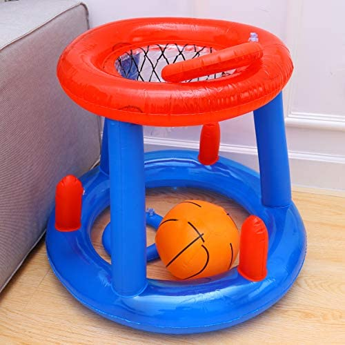 LIOOBO Canasta Hinchable Canasta Flotante Juguete de Baloncesto ...