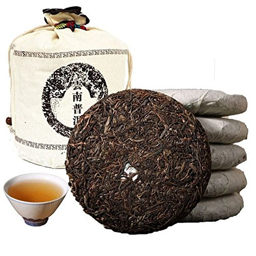 Dian Mai Classical collection 2005 unknown spring tea puer tea 12 years Kunming dry storage 200 gram tea5 cake Total 1000G经典收藏2005年无名春尖普洱老生茶 12年昆明干仓200克5饼 共1000G by Dian Mai 滇迈 (Image #6)