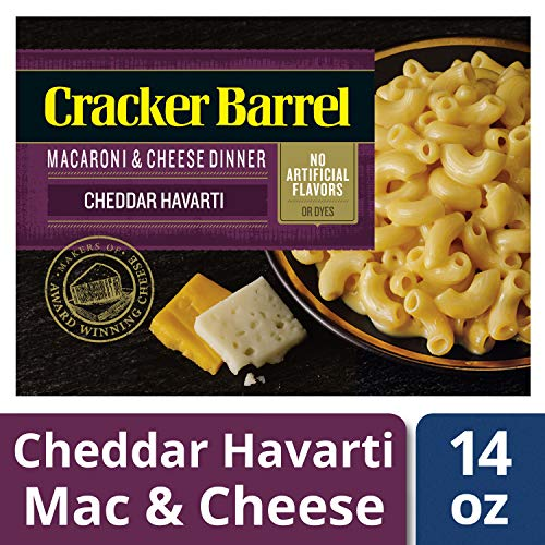 Cracker Barrel Cheddar Harvarti Macaroni and Cheese Dinner, 14 oz Box (Cracker Barrel Oven Baked Mac And Cheese)