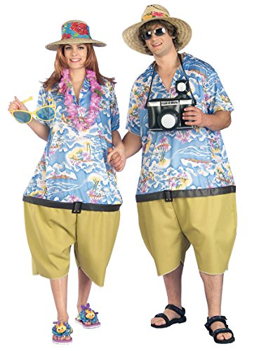 [Forum Novelties Men's Couple's Fun Unisex Tropical Tourist Costume, Multi, Standard] (Funny Halloween Couple Costumes)