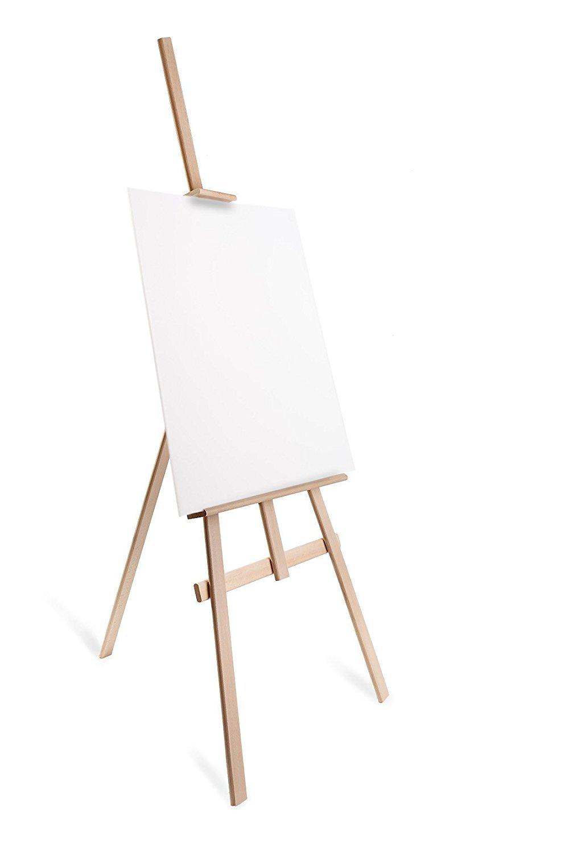 Vetrineinrete/® Cavalletto pittorico in legno leggero inclinabile altezza 122 cm per pittura o esposizione di tele quadri e foto arredo casa E50