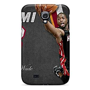 Shock-Absorbing Hard Phone Cover For Samsung Galaxy S4 (RMO2807hbea) Allow Personal Design Trendy Miami Heat Pictures