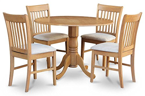 5-Pc Dinning Set in Oak Finish