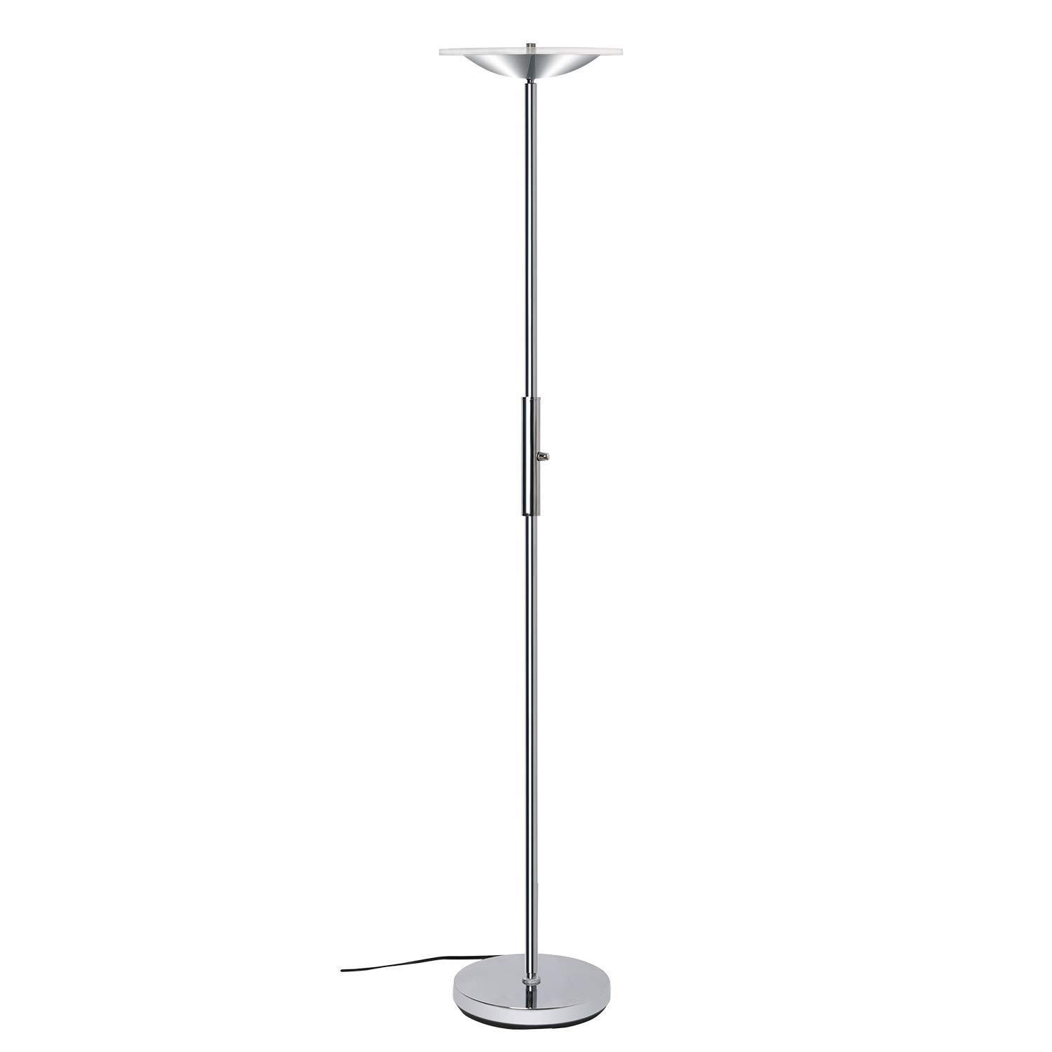 LED Torchiere Floor Lamp, SUNLLIPE Super Bright 18W Dimmable Uplight Adjustable Floor Lamp, Modern 70.5'' Tall Standing Pole Light, Compatible with Wall Switch for Reading, Office, Living Room, Bedroom
