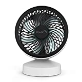 KLOUDIC Mini USB Desk Fan 7 Blades Strong Wind Quiet Cooling Fan Portable Small Personal Table Fan For Home Office Travel