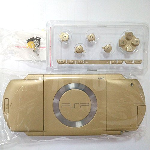 Replacement Full Housing Shell Case Cover with Buttons Screws For PSP 1000 PSP1000-Gold